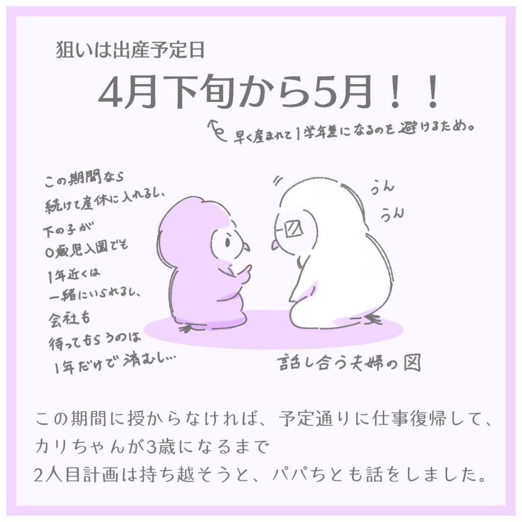 狙いは出産予定日4月下旬から5月!!
