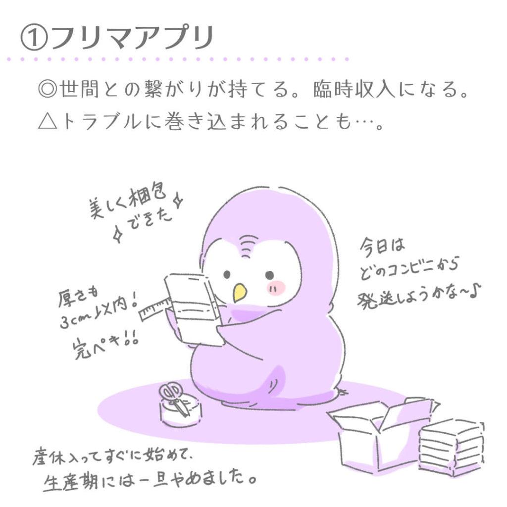 ①フリマアプリ
