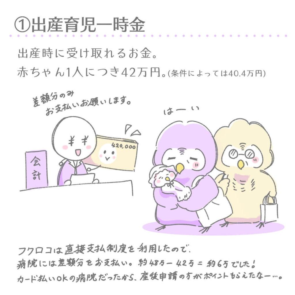 ①出産育児一時金