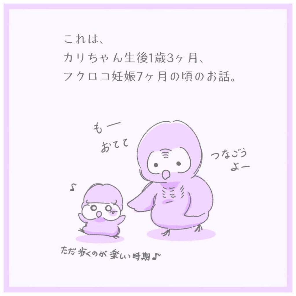 これは、かりちゃん生後1歳3ヶ月、フクロコ妊娠7ヶ月の頃のお話。