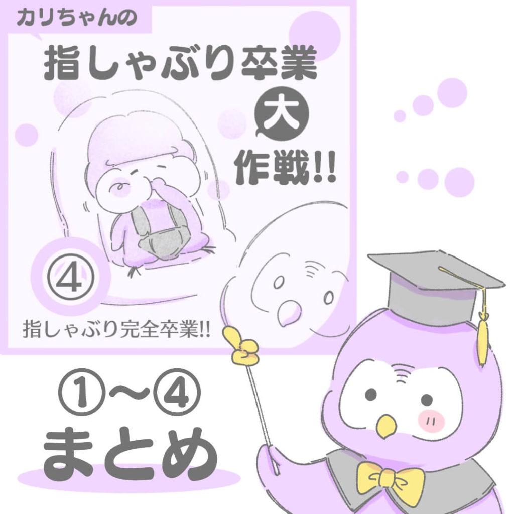 カリちゃんの指しゃぶり卒業大作戦①〜④
